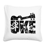 Uke Ukulele Square Canvas Pillow