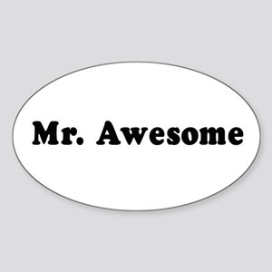 Mr. Awesome - Oval Sticker