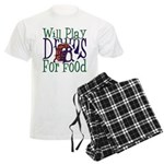 Will Play Drums Men's Light Pajamas