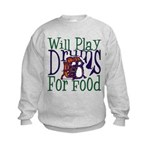 Will Play Drums Kids Sweatshirt