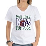 Will Play Drums Women's V-Neck T-Shirt