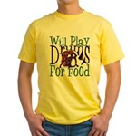Will Play Drums Yellow T-Shirt