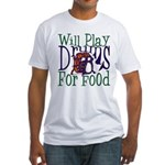Will Play Drums Fitted T-Shirt