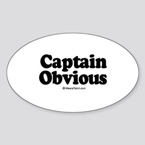 Captain Obvious - Oval Sticker