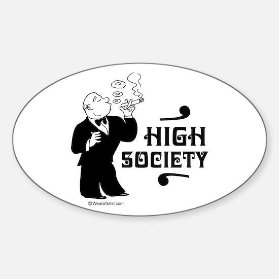 High Society - Oval Decal