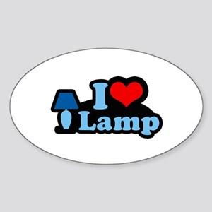 I heart lamp - Oval Sticker