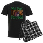 Will Play Drums Men's Dark Pajamas