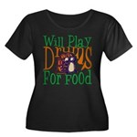 Will Play Drums Women's Plus Size Scoop Neck Dark