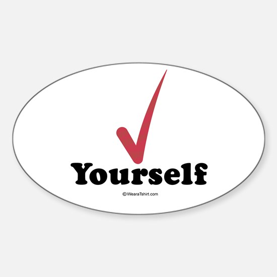 Check yourself - Oval Decal