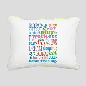 Baton Twirling Rectangular Canvas Pillow