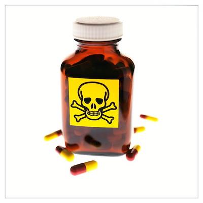 Toxic medication, conceptual image Poster