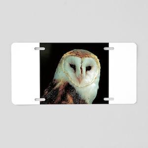 Barn Owl Aluminum License Plate
