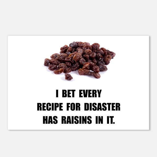 Recipe For Disaster Raisins Postcards (Package of