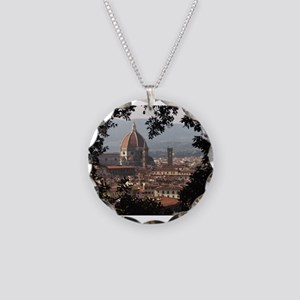 Florence Necklace Circle Charm