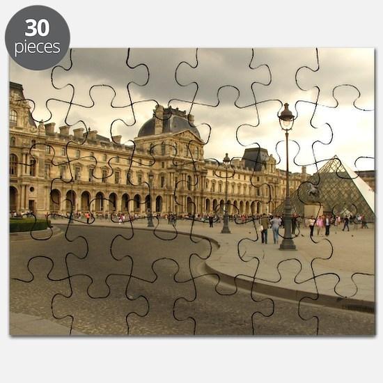 Cloudy Louvre Puzzle