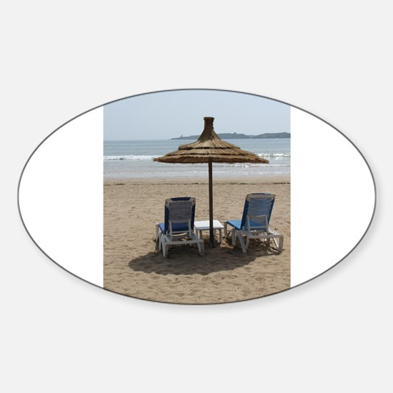Moroccan Beach Sticker (Oval)
