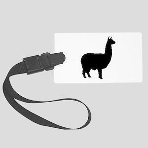 alpaca 22 black Large Luggage Tag