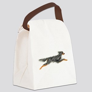 Leaping Gordon Setter Canvas Lunch Bag