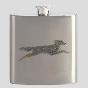 Leaping Gordon Setter Flask