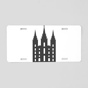 Salt Lake Temple Aluminum License Plate