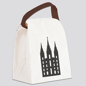 Salt Lake Temple Canvas Lunch Bag