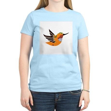 Orange Hummingbird Women's Light T-Shirt