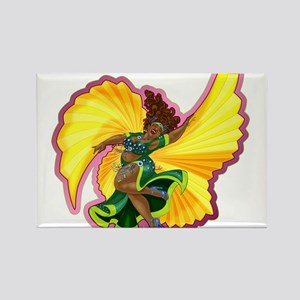 Big-n-Beautiful Winged Belly Dancer Rectangle Magn