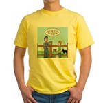 Don't Milk the Bull Yellow T-Shirt