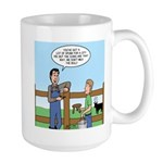 Don't Milk the Bull Large Mug