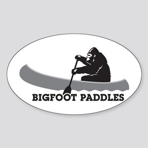 Bigfoot Paddles Sticker (Oval)