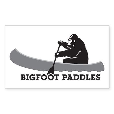 Bigfoot Paddles Sticker (Rectangle)