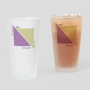 Delta Sigma Triangles Drinking Glass