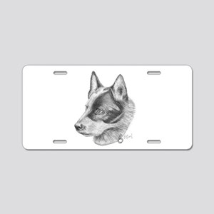 Blue Healer Aluminum License Plate