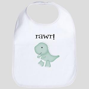 Rawr T-Rex Dinosaur Bib