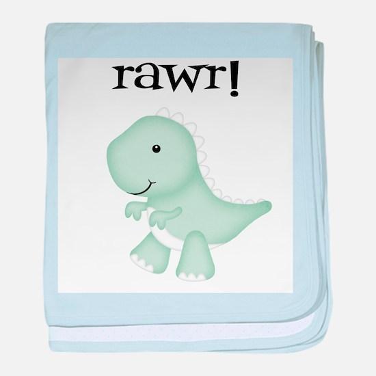 Rawr T-Rex Dinosaur baby blanket