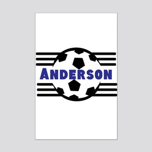 Personalized Soccer Mini Poster Print