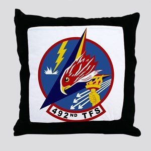 492nd TFS Throw Pillow