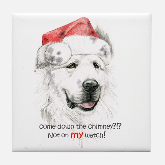 Great Pyrenees Tile Coaster