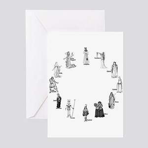 Shakespeare's Women Greeting Cards (Pk of 10)