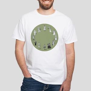 Shakespeare's Women Gray-Green White T-Shirt