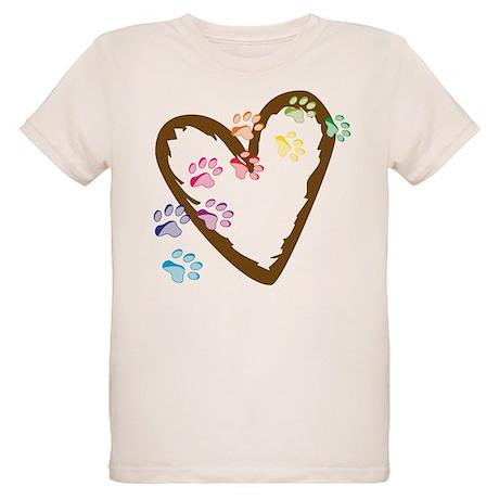 Paw Heart Organic Kids T-Shirt