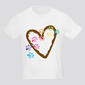 Paw Heart Kids Light T-Shirt