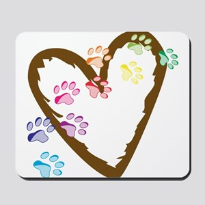 Paw Heart Mousepad