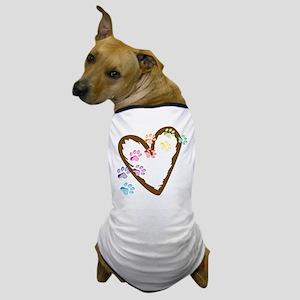 Paw Heart Dog T-Shirt