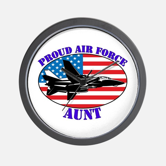 Proud Air Force Aunt Wall Clock