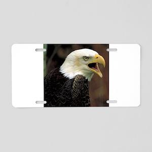 Voiceful Bald Eagle Aluminum License Plate