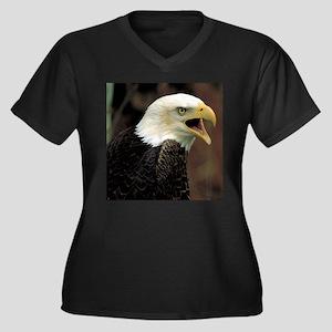 Voiceful Bald Eagle Women's Plus Size V-Neck Dark