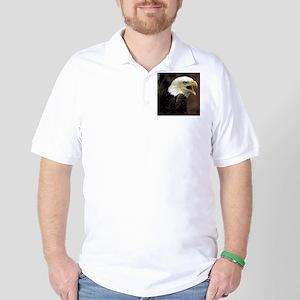 Voiceful Bald Eagle Golf Shirt
