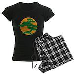 Bonsai Tree Women's Dark Pajamas