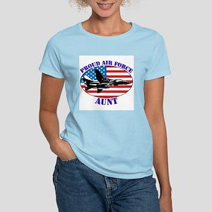 Proud Air Force Aunt Women's Pink T-Shirt